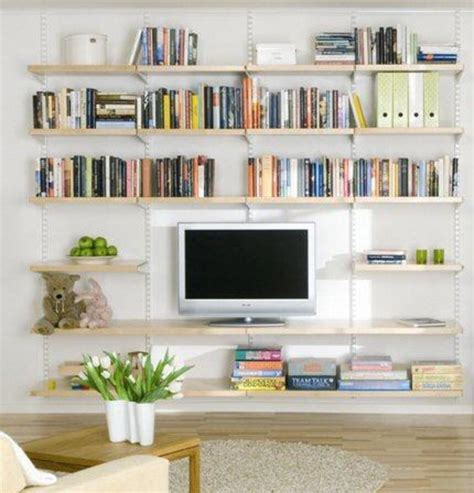 Shelves In Living Room Design by Decorate A Modern Living Room Shelf In You Living Room