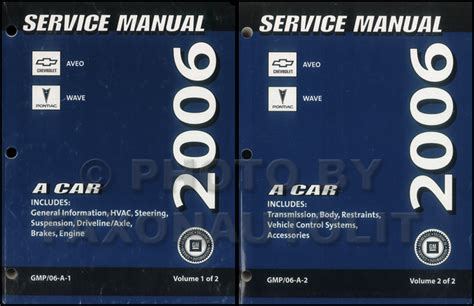 how to download repair manuals 2006 chevrolet avalanche 1500 parking system 2006 chevy aveo pontiac wave repair shop manual original 2 volume set