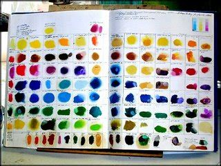 color theory reference sketchbook project 1