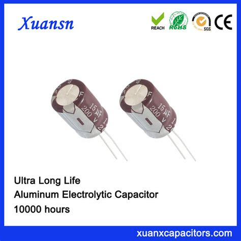 electrolytic capacitor lifetime definition 10000h radial electrolytic 15uf 200v capacitor