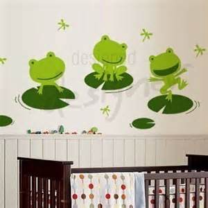Frog Wall Stickers Happy Frogs On A Lily Pad Wall Decal