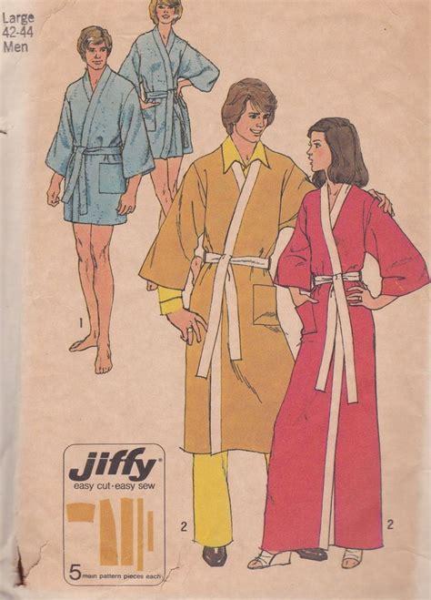 kimono robe pattern simplicity 70s men s kimono robe vintage sewing patterns large 42 44