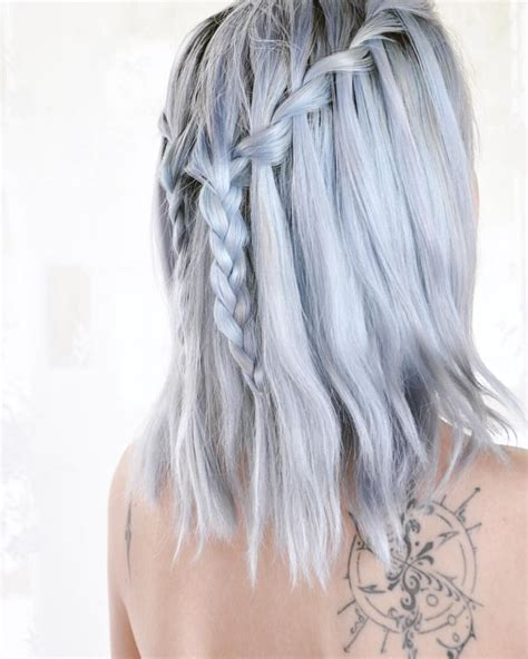periwinkle hair highlights arctic fox poseidon periwinkle sterling silver hair