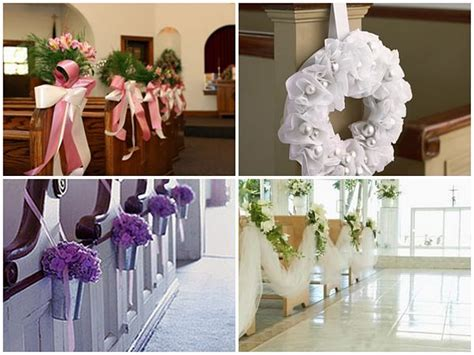 chirch decoration pew decorations ideas for church