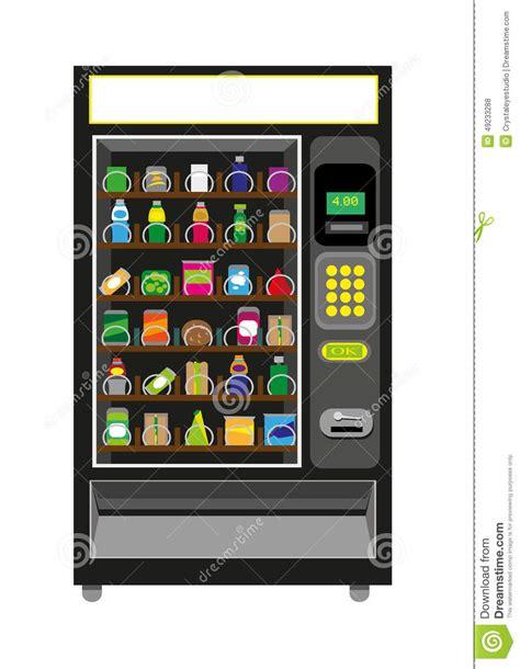 Business Letter For Vending Machine Vending Machine Illustration In Black Color