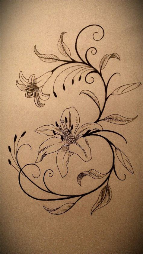 lily pattern tattoo lily tattoo design by fallenangel0717 laminas para