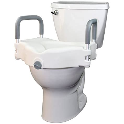 supplies toilet seat handles raised toilet seat by vive portable elevated riser with
