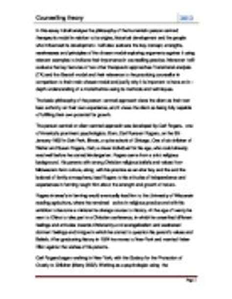 Counselling Theory Essay by Counselling Theory In This Essay I Shall Analyse The Philosophy Of The Humanistic Person