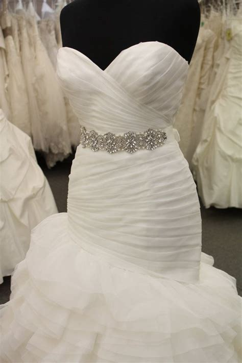 Beaded Bridal Sash by CoutureBrideBoutique on Etsy, $165