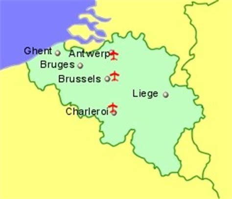 map of belgium airports belgium airports flights to belgium from the uk or ireland