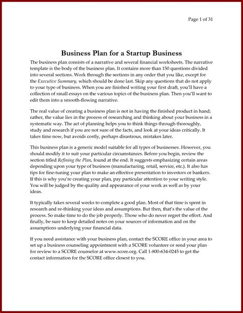 consulting business plan template template design
