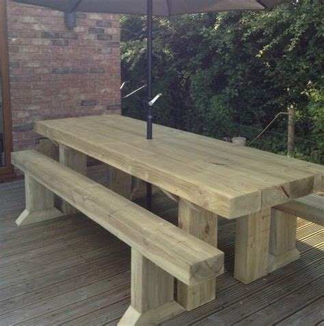 wooden sleeper plans solid wooden sleeper outside or inside table and chairs