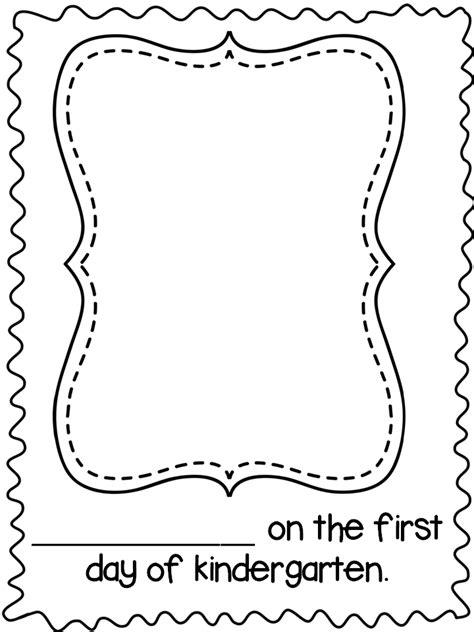 day of school template day of school template word kindergarten day
