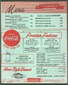 50s Diner Menu Template by Vintage Woolworth S Menu Use As Template To Design Sock