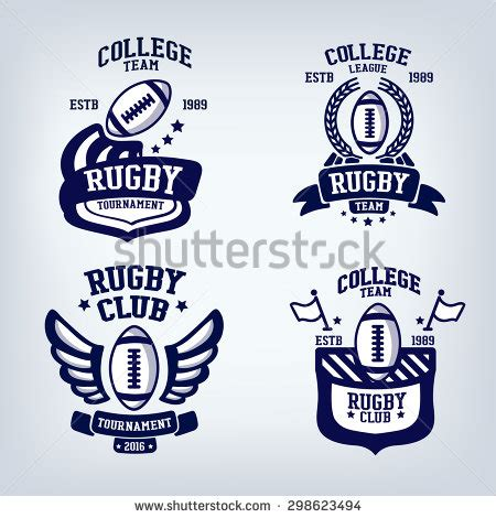 design a rugby logo rugby club emblem college league logo one colordesign