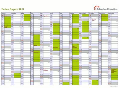 Individueller Kalender 2017 Ferien Bayern 2017 Ferienkalender Zum Ausdrucken