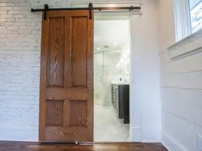 Sliding Barn Door Installation How To Install Barn Doors Diy Network Made Remade Diy
