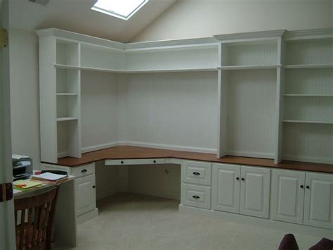 Built In Corner Desk Ideas Home Office On Home Offices Built In Desk And Built Ins