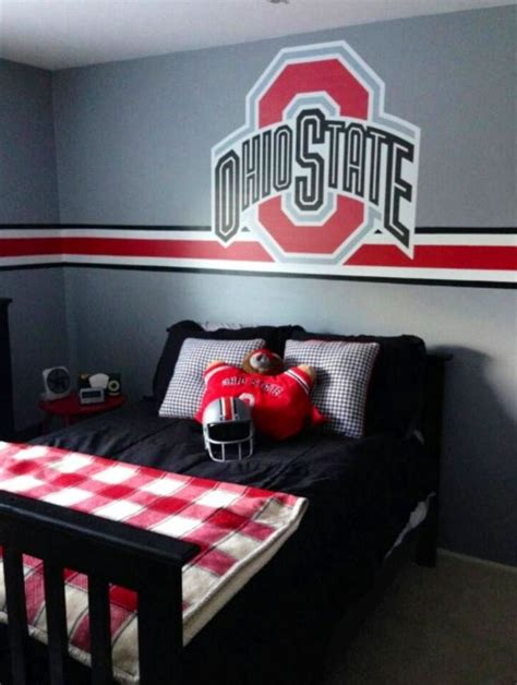 ohio state bedroom osu bedroom ohio state pinterest