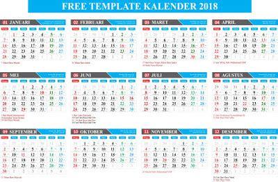 kalender 2018 masehi 1439 hijriyah corel gratis