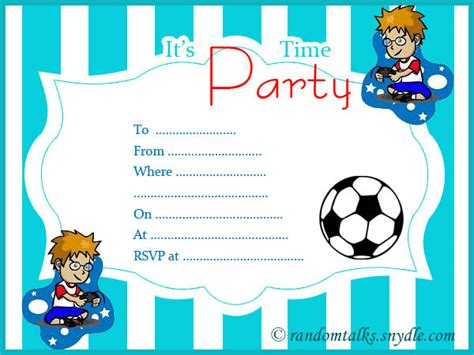 birthday card template 11 year boy free printable birthday invitations random talks