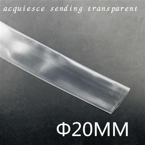 Clear Heat Shrink 20mm 1mtr 1meter lot 20mm inner diameter white ye gn transparent