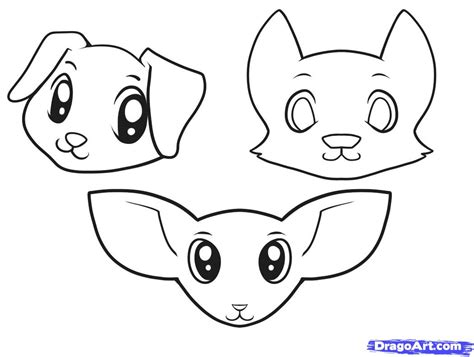 How to Draw Dogs for Kids, Step by Step, Animals For Kids ... Easy Dog Face Drawing