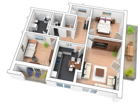 Apartment Garage Floor Plans 3d grundriss