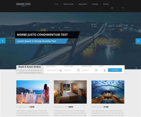 free bootstrap templates for resorts static website designing company in delhi india static