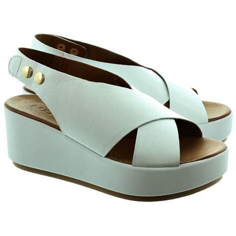 white sandal wedges inuovo 6087 wedge sandals in white in white