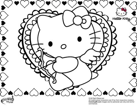 hello kitty coloring pages for valentines day hello kitty valentine coloring pages team colors