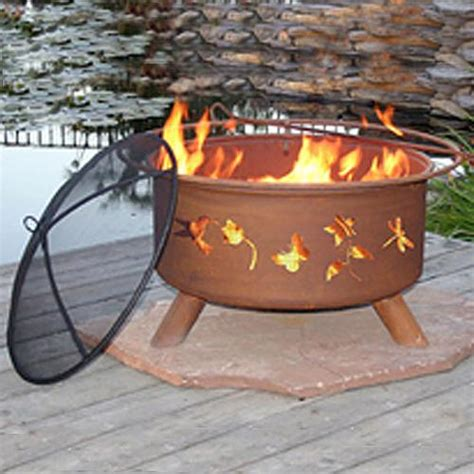 flower and garden patina fire pit
