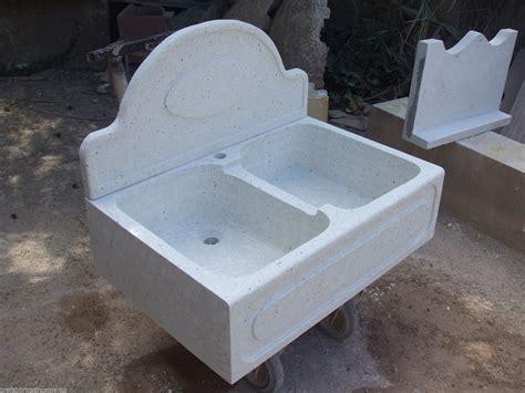 lavello cucina bianco lavello in cemento e graniglia di marmo di carrara di