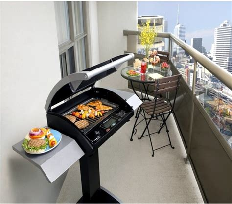 Balcony Patio bbq on the balcony or in the garden coal gas or electric