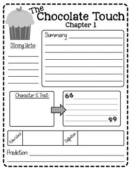 chocolate touch worksheets the chocolate touch reading packet freebie by create teach