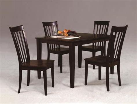 Espresso Kitchen Table Set espresso kitchen table with 4 chairs