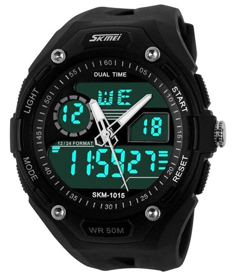 rugged analog skmei black plastic analog digital for available at snapdeal for rs 729