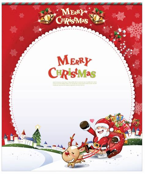 free santa card templates vector card with santa claus free vector