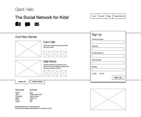 examples  web  mobile wireframe sketches