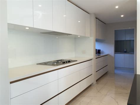 white kitchens with glass splashbacks kitchen designs photo gallery kisk kitchens gold coast in