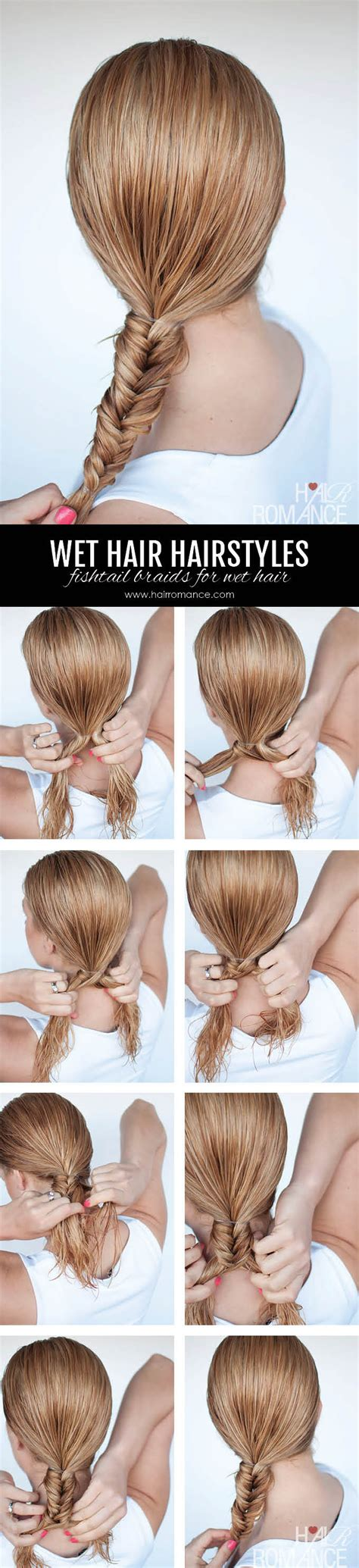 hairstyles to do when your hair s wet hairstyles for wet hair 3 simple braid tutorials you can