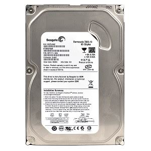 Hardisk Seagate 80gb Ata seagate barracuda st380215as 80gb 7200rpm sata 3 0gb s 3 5