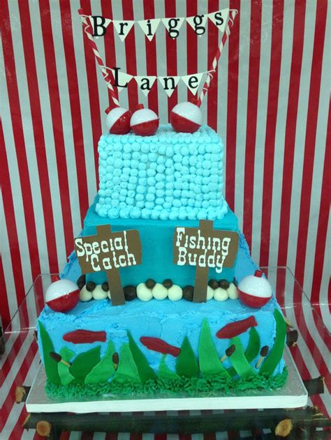 Fish Themed Baby Shower by Best 20 Fishing Theme Cake Ideas On