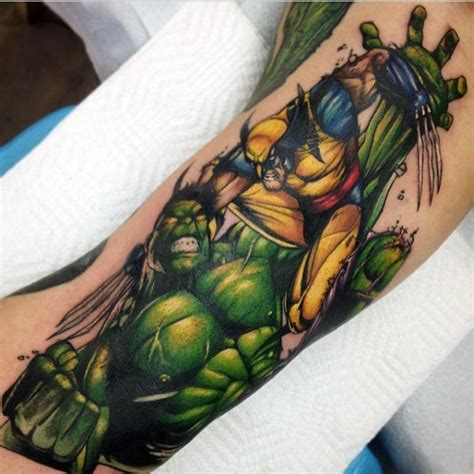 superior tattoo com superior colored forearm of and wolverine