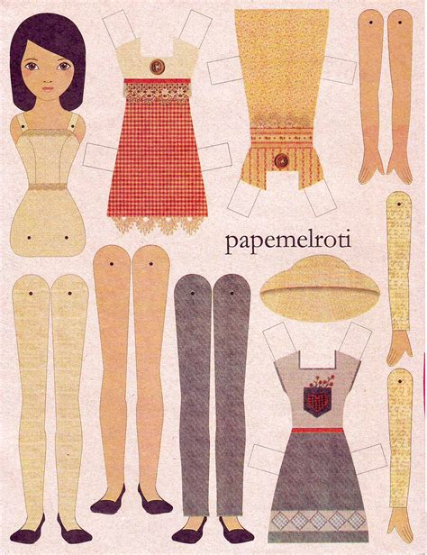 Doll With Paper - printable paper doll hairstyle 2013