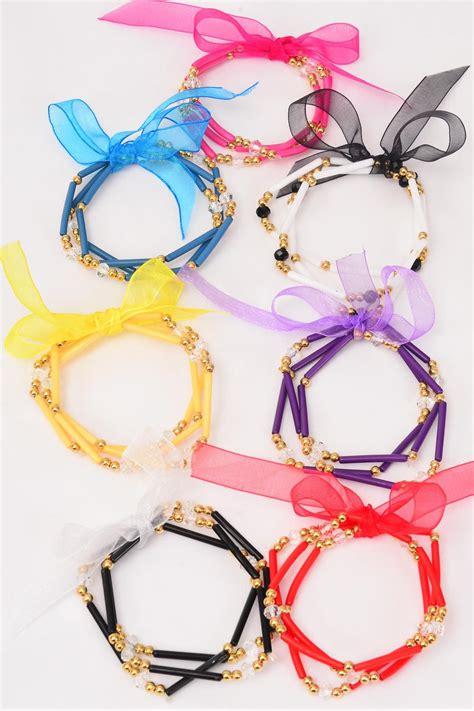 Gelang Fashion Wanita Impor Blue Square Bangle A 3005 bracelet 3 strend glass mix ribbons dz stretch 2 blue 2 black 2 white 2