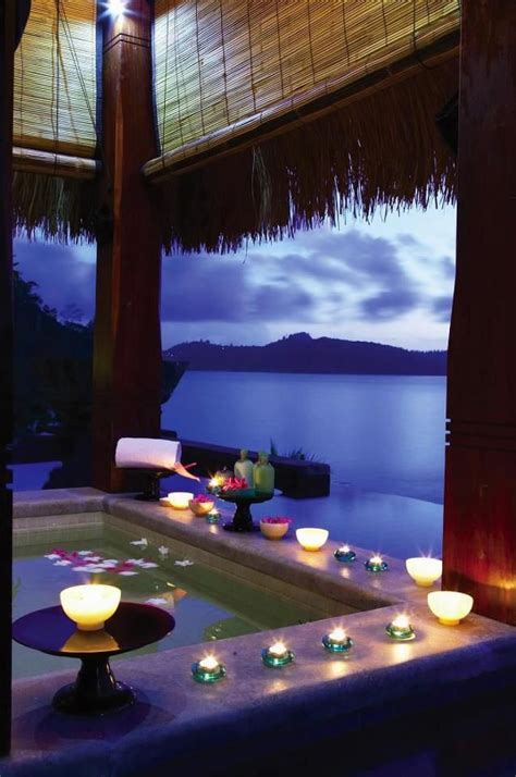romantic bathroom ideas romantic jacuzzi bath overlooking the ocean pictures