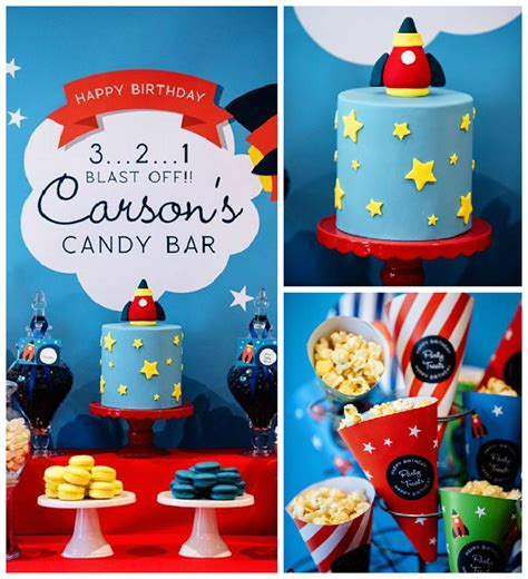 Carnival Themed Table Decorations Kara S Party Ideas 3 2 1 Blast Off Themed Candy Bar Party