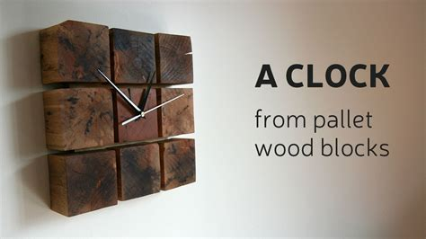 clock made of clocks how to make a clock from pallet wood blocks