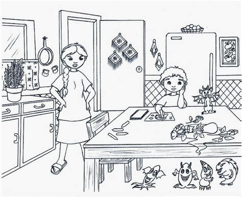 cuisine am駭ag馥 darty desenhos para colorir cozinha para colorir nauana